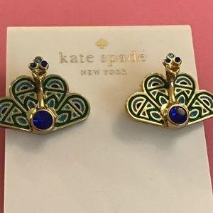 Kate Spade Strut Your Stuff Peacock Earrings